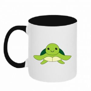 Two-toned mug The turtle wants hugs - PrintSalon
