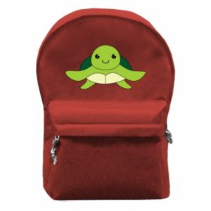 Backpack with front pocket The turtle wants hugs