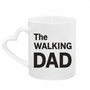 Mug with heart shaped handle The walking dad