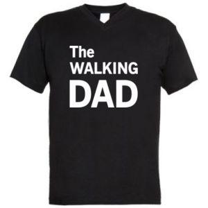 Men's V-neck t-shirt The walking dad