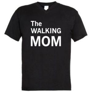 Męska koszulka V-neck The walking mom
