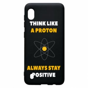 Etui na Samsung A10 Think like a proton always stay positive