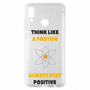 Etui na Huawei P Smart 2019 Think like a proton always stay positive