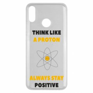 Etui na Huawei Y9 2019 Think like a proton always stay positive