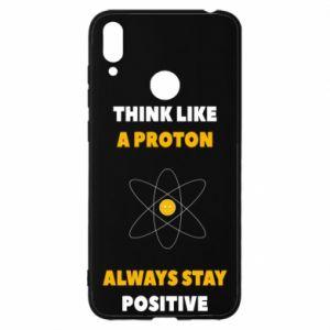 Etui na Huawei Y7 2019 Think like a proton always stay positive