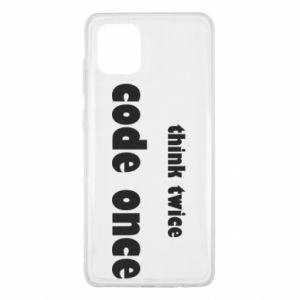 Etui na Samsung Note 10 Lite Think twice code once