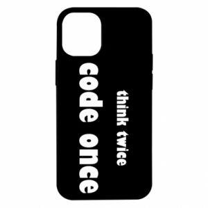 Etui na iPhone 12 Mini Think twice code once