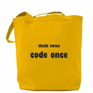 Torba Think twice code once