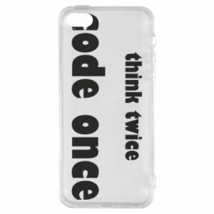 Etui na iPhone 5/5S/SE Think twice code once