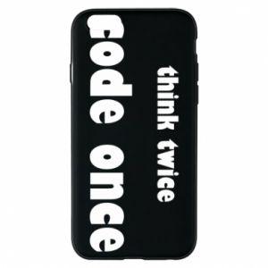 Etui na iPhone 6/6S Think twice code once