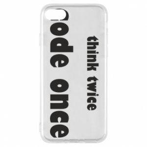 Etui na iPhone 7 Think twice code once