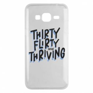 Phone case for Samsung J3 2016 Thirty, flirty and thriving