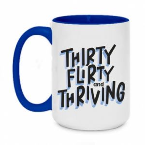 Two-toned mug 450ml Thirty, flirty and thriving