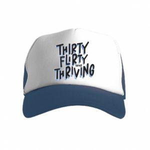 Kid's Trucker Hat Thirty, flirty and thriving
