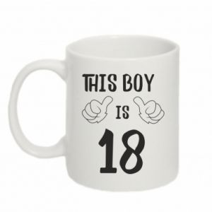 Mug 330ml This boy is 18!