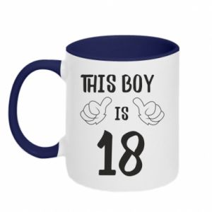 Two-toned mug This boy is 18!