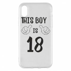 Phone case for iPhone X/Xs This boy is 18!
