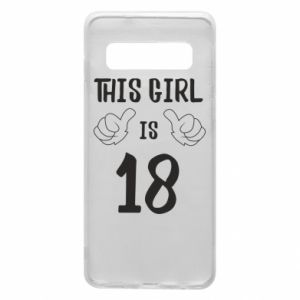 Etui na Samsung S10 This girl is 18!