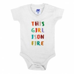 Baby bodysuit This girl is on fire