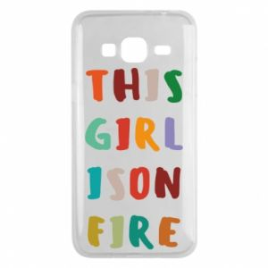 Phone case for Samsung J3 2016 This girl is on fire