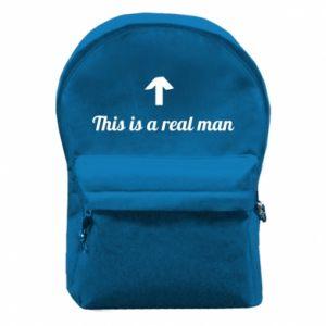 Plecak z przednią kieszenią This is a real man