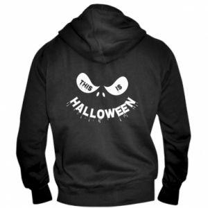 Men's zip up hoodie This is halloween - PrintSalon