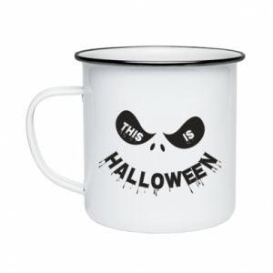 Enameled mug This is halloween - PrintSalon