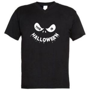 Męska koszulka V-neck This is halloween