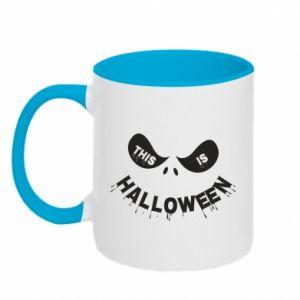 Two-toned mug This is halloween - PrintSalon