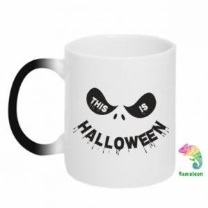 Chameleon mugs This is halloween - PrintSalon