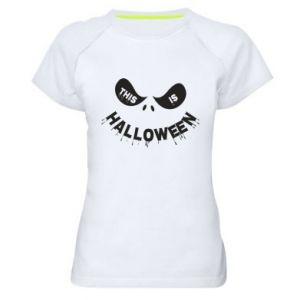 Damska koszulka sportowa This is halloween