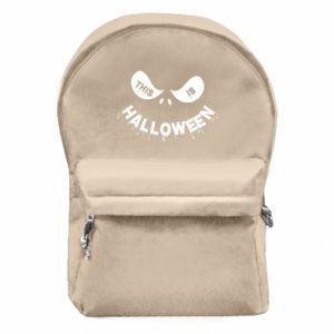 Backpack with front pocket This is halloween - PrintSalon