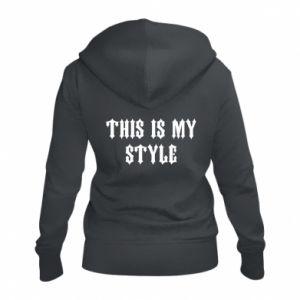 Damska bluza na zamek This is my STYLE