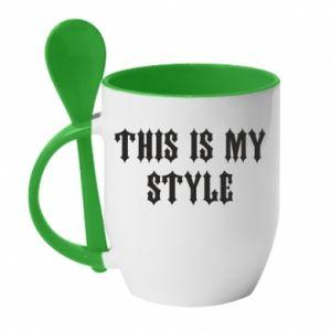 Kubek z ceramiczną łyżeczką This is my STYLE
