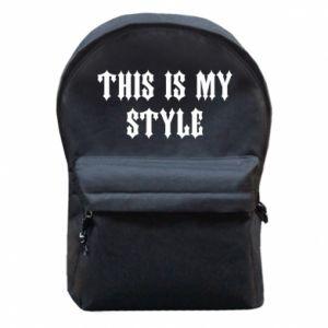Plecak z przednią kieszenią This is my STYLE