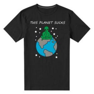 Męska premium koszulka This planet sucks