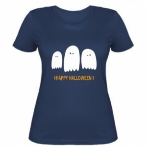 Women's t-shirt Three ghosts Happy halloween