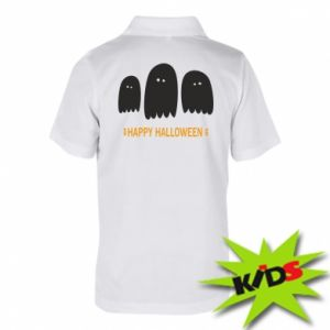 Children's Polo shirts Three ghosts Happy halloween - PrintSalon