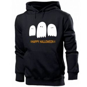 Men's hoodie Three ghosts Happy halloween - PrintSalon