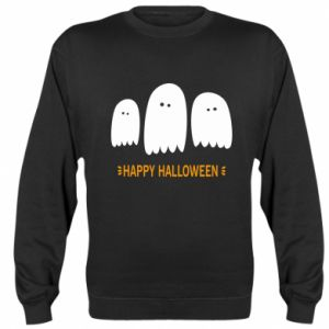 Sweatshirt Three ghosts Happy halloween - PrintSalon