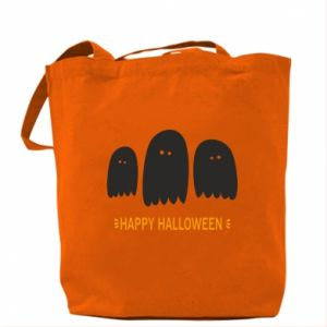 Bag Three ghosts Happy halloween - PrintSalon