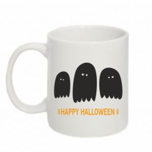 Mug 330ml Three ghosts Happy halloween - PrintSalon