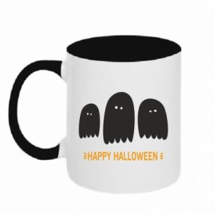 Two-toned mug Three ghosts Happy halloween