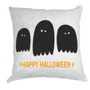 Pillow Three ghosts Happy halloween - PrintSalon