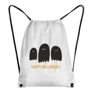 Backpack-bag Three ghosts Happy halloween - PrintSalon