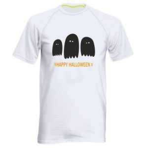 Men's sports t-shirt Three ghosts Happy halloween