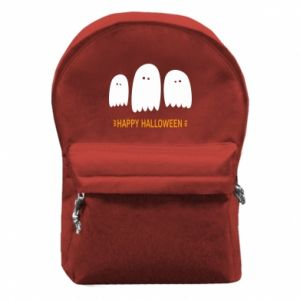 Backpack with front pocket Three ghosts Happy halloween - PrintSalon