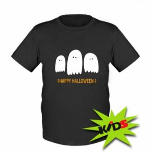 Kids T-shirt Three ghosts Happy halloween - PrintSalon