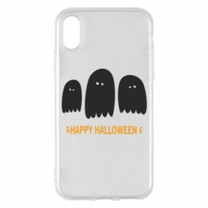 Phone case for iPhone X/Xs Three ghosts Happy halloween - PrintSalon