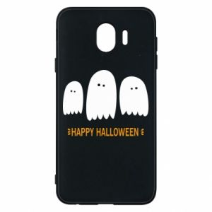 Phone case for Samsung J4 Three ghosts Happy halloween - PrintSalon